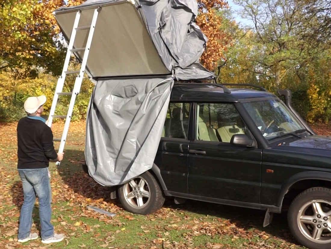 Prime Tech Autodachzelt EXTENDED 320x140x130 cm in beige